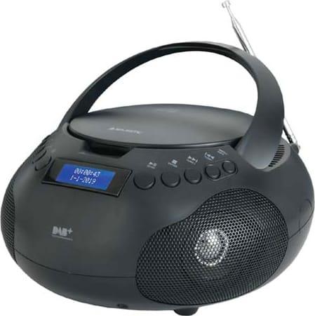 Majestic Ah-264 Dab Boombox Radio Stereo Digitale Dab Lettore Cd Mp3 Aux Nero Ah-264 Dab