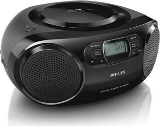 Philips Azb500/12 Boombox Radio Stereo Lettore Cd Radio Dab+ Fm Registratore Colore Nero - Azb500/12