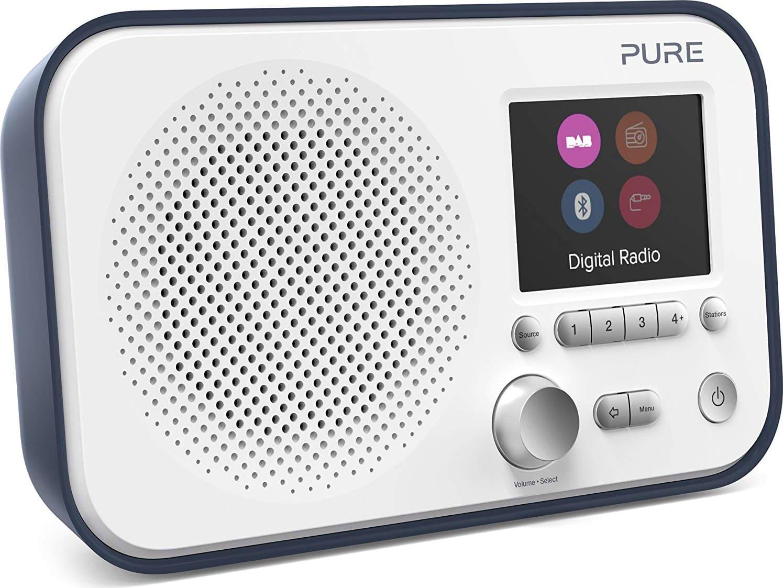 Pure 151062 Radio Digitale Dab / Dab+ / Fm Portatile Bluetooth Display Tft Colore Blu / Bianco - 151062 - Elan Bt3