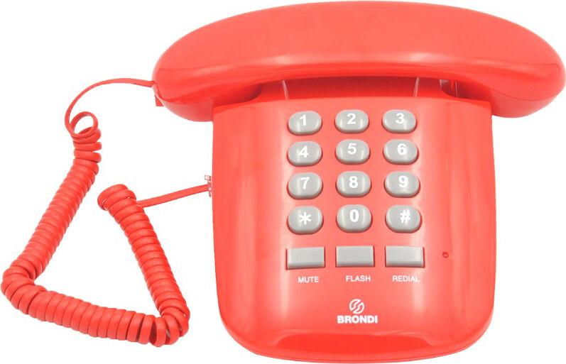 Brondi Sole Rosso Telefono Fisso A Filo Colore Rosso - Sole