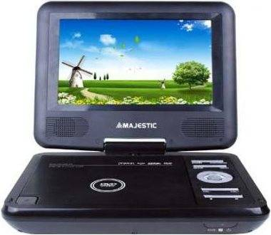 Majestic Dvx166usb Lettore Dvd Portatile Display 7 Usb / Sd Con Telecomando Colore Nero - 100166 Dvx-166 Usb / Sd