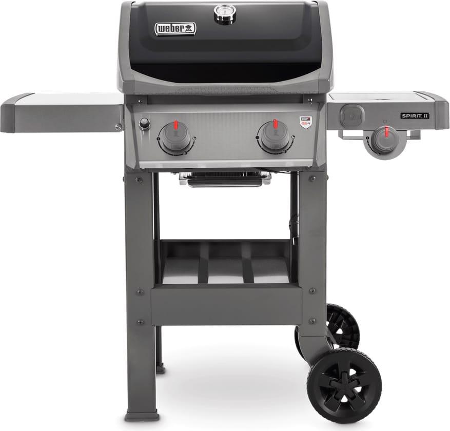 Weber 44012129 Barbecue Gas Griglia In Ghisa Bbq Da Giardino Potenza 7.77 Kw Con Fornello Laterale Coperchio E Ruote - 44012129 - Spirit Ii E-220 Gbs