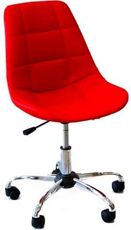 bizzotto 0710231 Sedia Ufficio Poltrona Girevole In Ecopelle Altezza Regolabile Colore Rosso - 0710231 Relaxing