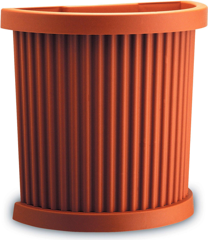 plastecnic Egeo Vaso Fiori Fioriera In Plastica Sagomato Dimensioni 50x26x48 Cm - Egeo