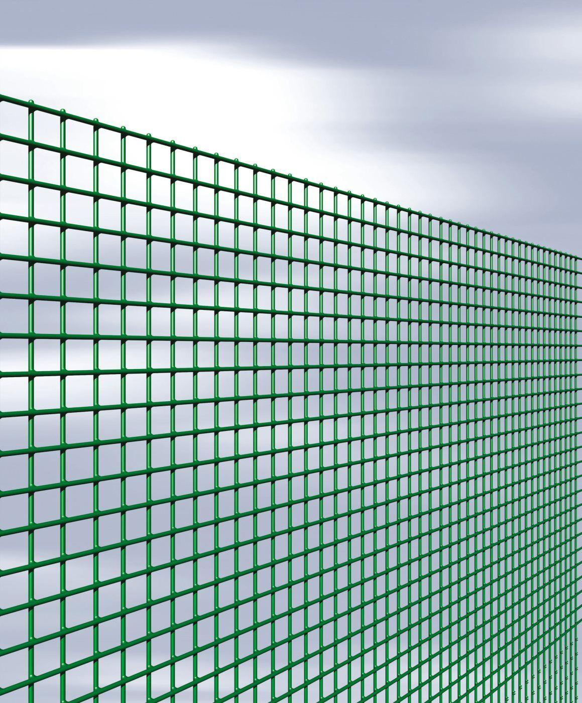 nbrand Quadraplast Rete Per Recinzione Elettrosaldata E Plastificata Maglia Quadrata 12x12 Mm Altezza 80 Cm Rotolo Da 25 Metri