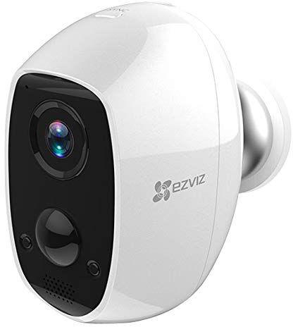 ezviz 303100908 telecamera videosorveglianza wireless a batteria da interno ed esterno full hd audio bidirezionale visione notturna compatibile con base station w2d - 303100908 c3a