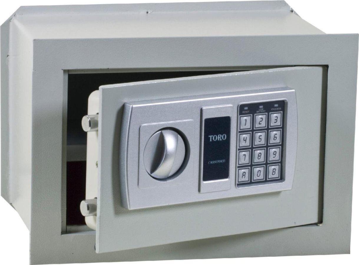 toro Elettronica Cm.42x20x30 Mm.6 Cassaforte Muro Elettronica Spessore Sportello 6 Mm Dimensioni Cm 42x20x30h - Elettronica Cm.42x20x30 Mm.6