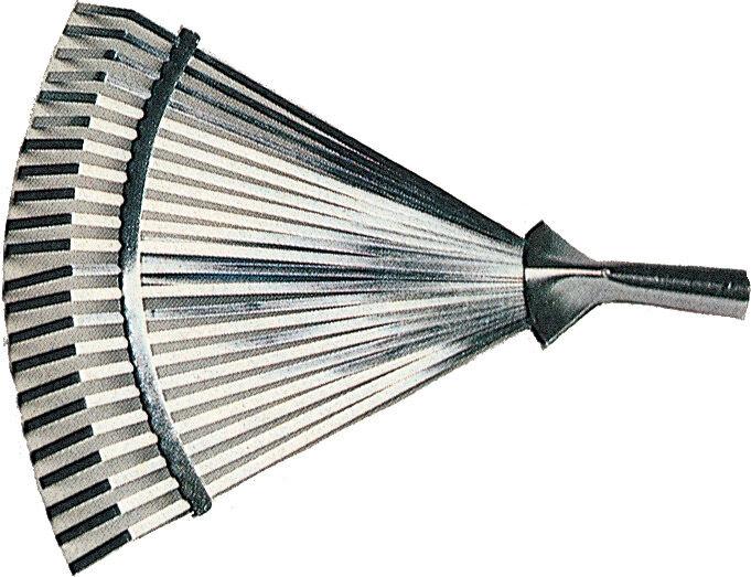 nbrand Scop-Met Rastrello Da Giardino Scopa In Metallo Attacco Conico