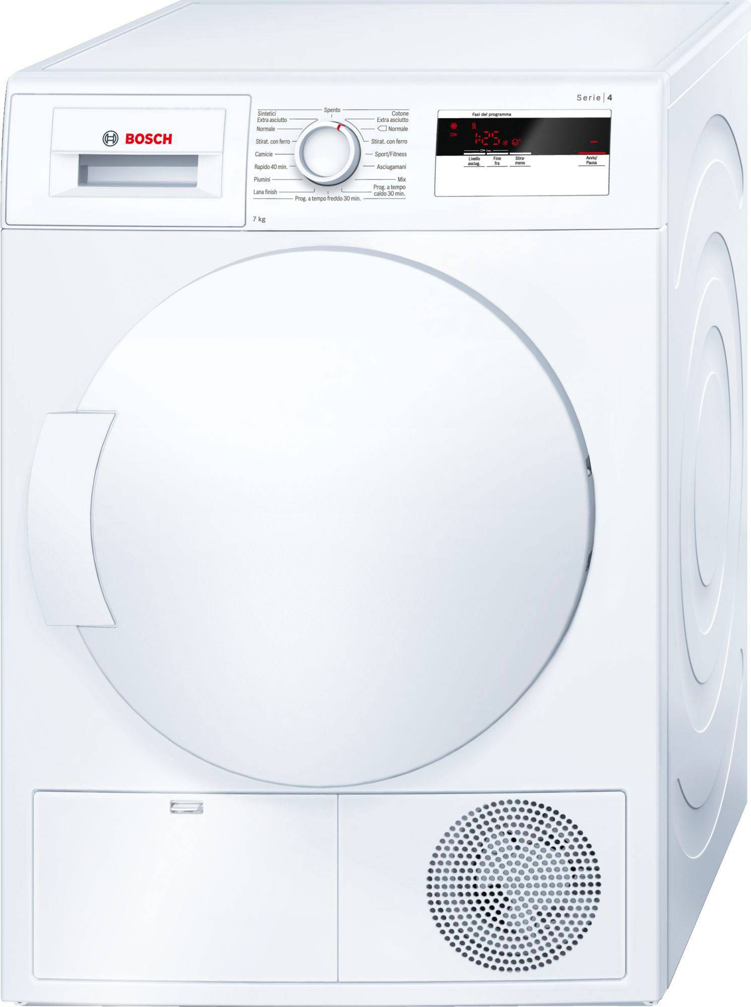 Bosch Wth83007it Asciugatrice Asciugabiancheria Capacità Di Carico 7 Kg Classe Energetica A+ Profondità 63 Cm A Condensazione Pompa Di Calore - Wth83007it Serie 4