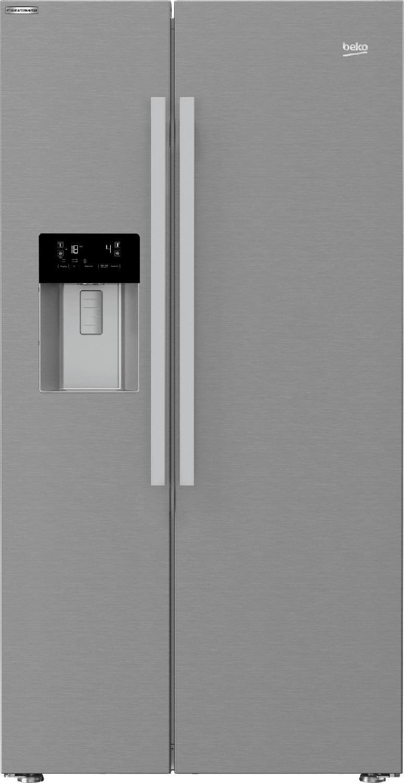 Beko Gn162330x Frigorifero Americano Side By Side Capacità 616 Litri Classe Energetica A++ Raffreddamento Total No Frost Ionizzatore / Dispenser Acqua - Ghiaccio / Blue Light / Shockfreeze Colore Inox - Gn162330x