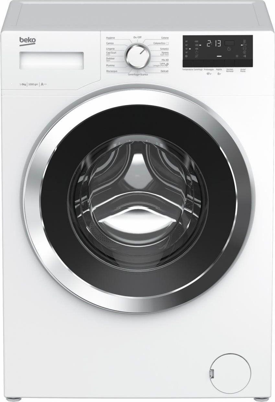 Beko Wrys51022c Lavatrice Slim Carica Frontale Capacità Di Carico 5 Kg Classe Energetica A++ Profondità 37 Cm Centrifuga 1000 Giri Partenza Ritardata - Wrys51022c