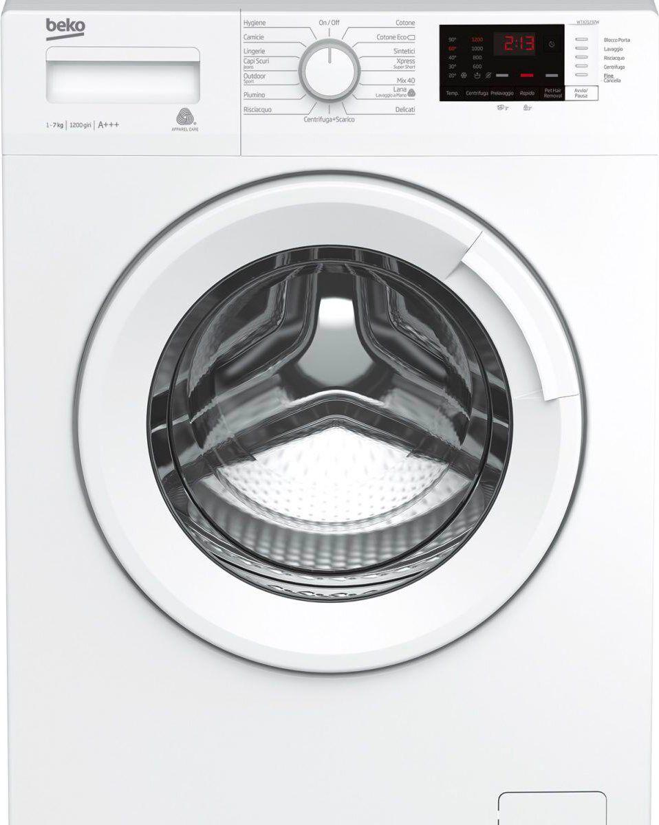 Beko Wtx71232w Lavatrice Carica Frontale Capacità Di Carico 7 Kg Classe Energetica A+++ Profondità 50 Cm Centrifuga 1200 Giri Partenza Ritardata - Wtx71232w
