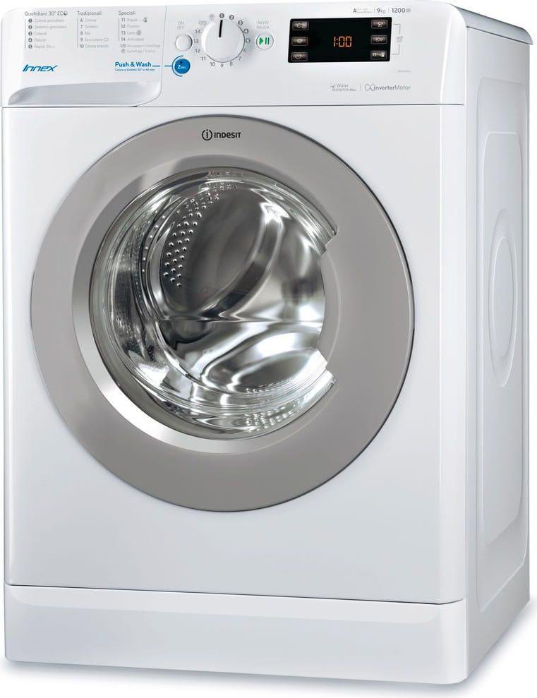Indesit Bwe 91284x Wsss It Lavatrice Carica Frontale Capacità Di Carico 9 Kg Classe Energetica A+++ Profondità 60 Cm Centrifuga 1200 Giri Funzione Push & Wash - Bwe 91284x Wsss It Innex