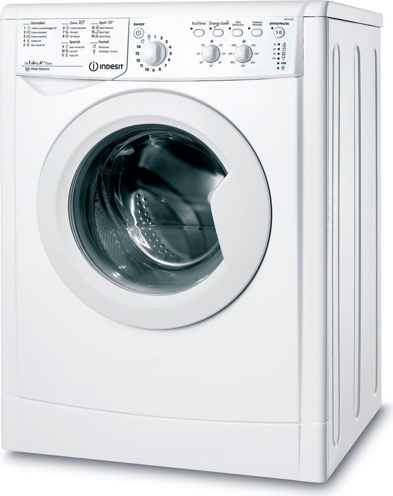 Indesit Iwc 61052 C Eco (It) Lavatrice Carica Frontale Capacità Di Carico 6 Kg Classe Energetica A++ Profondità 52 Cm Centrifuga 1000 Giri - Iwc 61052 C Eco (It)