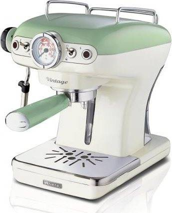 Ariete 1389/14 Espresso Vintage 1389/14 Macchina Caffè Cialde E Caffè Macinato In Polvere Espresso Manuale Con Erogatore Di Vapore 1 O 2 Tazze Colore Verde