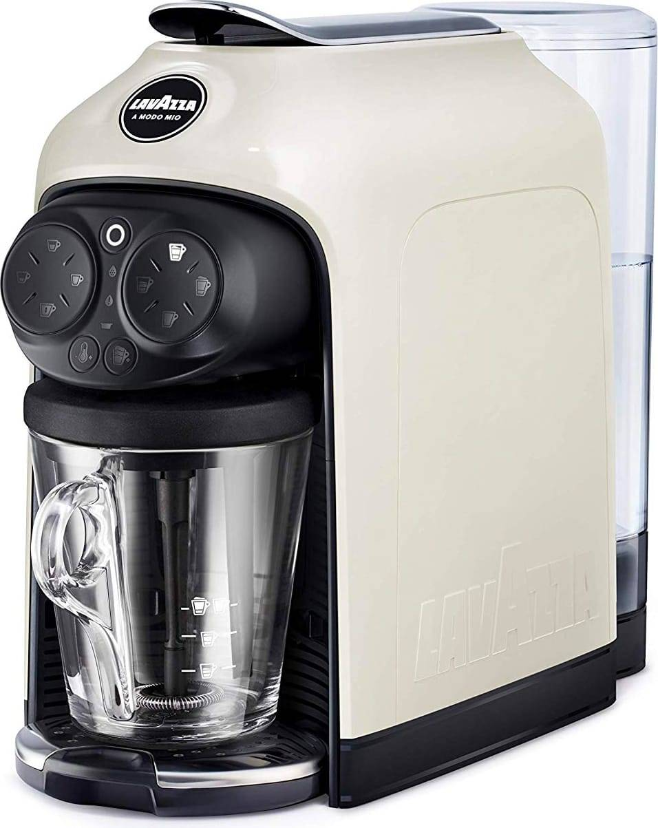 lavazza 18000285 Macchina Caffè Espresso Sistema Di Ricarica Capsule Lavazza A Modo Mio Con Cappuccinatore Colore Bianco - 18000285 Deséa