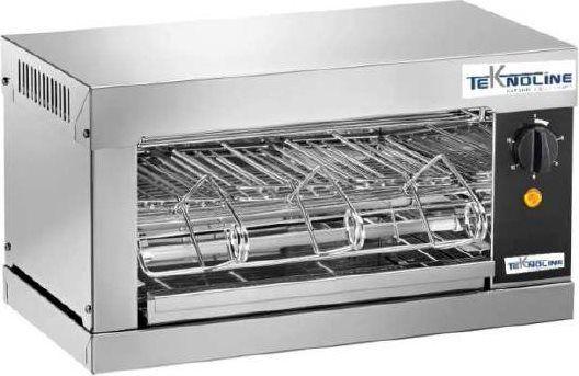 teknoline To3 Tostiera Professionale Resistenza Al Quarzo Potenza 2000 Watt Con Timer - To3