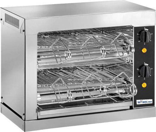 teknoline To6 Tostiera Professionale Resistenza Al Quarzo 2 Zone Cottura Potenza 3000 Watt Con Timer - To6