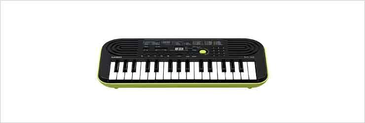 Casio Sa-46 Tastiera Musicale Midi 32 Tasti Altoparlanti Colore Nero / Verde - Mini Sa-46