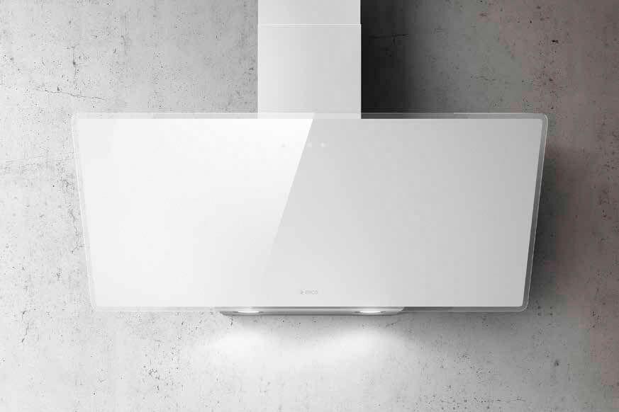 elica Prf0119828 Cappa Cucina Aspirante A Parete Larghezza 90 Cm Colore Bianco - Prf0119828 Shire Wh/a/90
