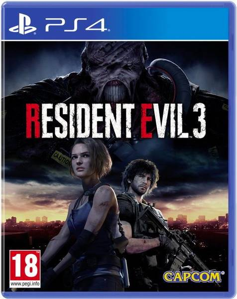 capcom Sp4r25 Videogioco Resident Evil 3 Playstation 4 Horror 18+ - Sp4r25