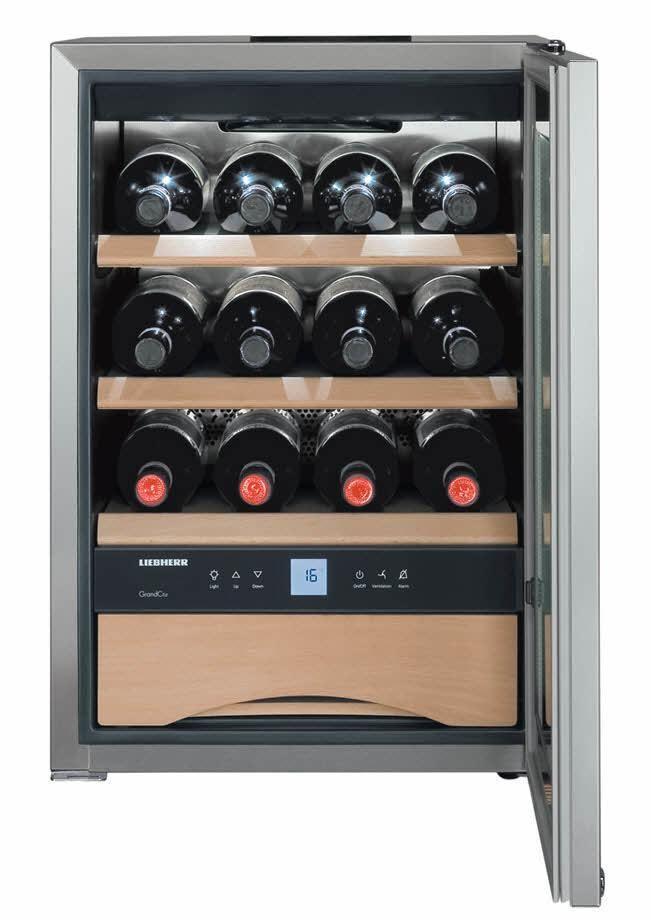 Liebherr WKes 653 Cantina per Vini climatizzata 12 Bottiglie Classe energetica A++ 61,2 cm Acciaio Inox