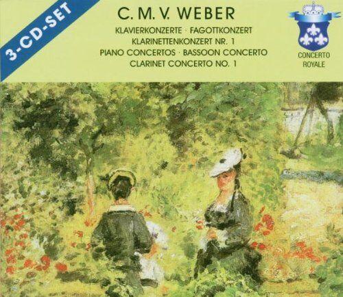 weber clarinet concert/piano co (3 cd)
