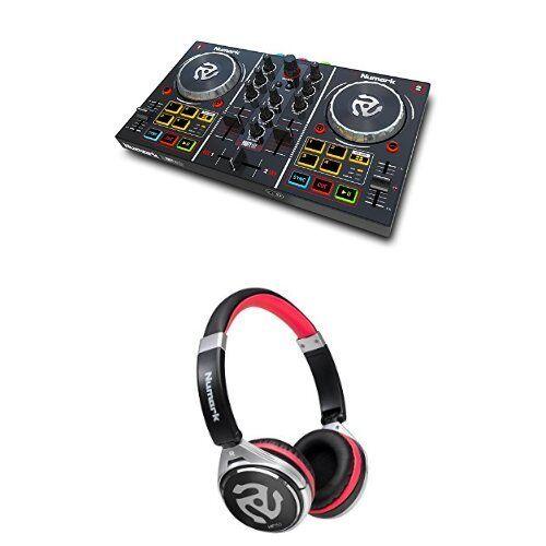 Numark Party Mix Consolle da Dj a Due Canali con Proiezione Luci Colorate e Interfaccia Audio, Completa di Effetti + Numark HF150, Cuffie sovraurali da DJ con arco pieghevole, ultra portatili ed ergonomiche