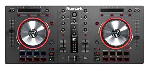 Numark Mixtrack 3 - Controller per DJ a 2 Deck per Serato DJ con Cursori di Pitch a Lunga Gittata, Due Jog Wheel da 5 e Pacchetto Software con Virtual DJ LE e Prime Loops Remix Tool Kit Incluso