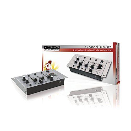 knig & meyer konig kn-djmixer10, mixer audio con 3 canali stereo
