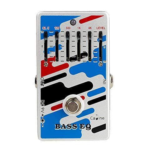 Caline CP-73 5-Band Graphic Bass EQ Pedale Effetto Per Basso