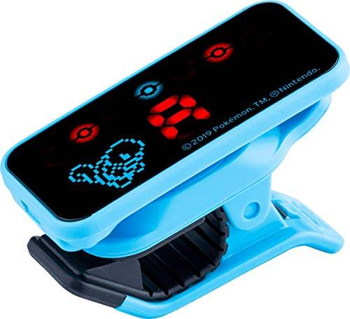 korg - accordatore cromatico pc2, clip-on, pokemon, shiggy, squirtle, colore: blu