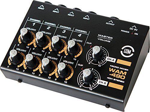 leem wam-290di 490mini mixer a 4canali, stereo
