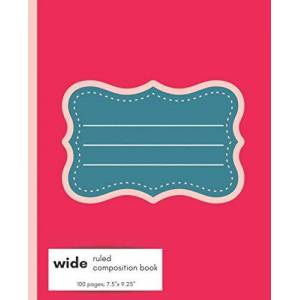 Purpose Planners, Run With Wide Ruled Composition Book: Cute lined school journal with fun, bright pink cover.  Go back to school in style with this perfect notebook for K-3rd grade creative writing, note taking, etc. ISBN:9798664419788