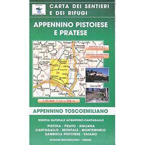 Aa. Vv Appennino Pistoiese e Pratese. Appennino Tosco-Emiliano Scala 1:25000. Carta dei sentieri e dei rifugi ISBN:9788874651740