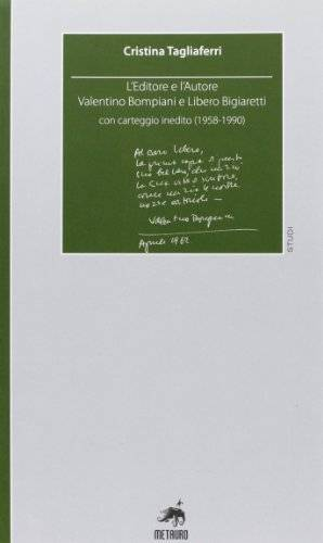 Cristina Tagliaferri L'editore e l'autore.