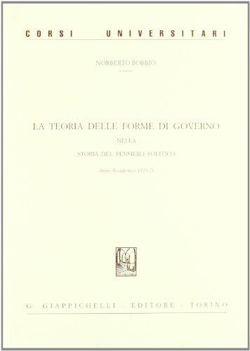 Norberto Bobbio La teoria delle forme di