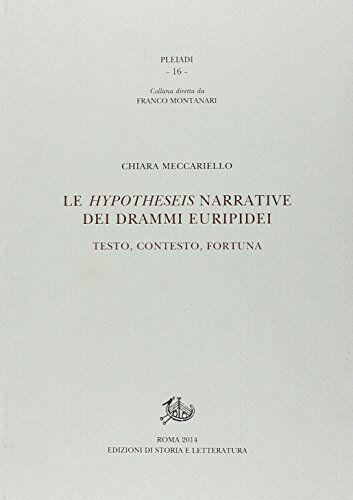 Chiara Meccariello Le hypotheseis narrative