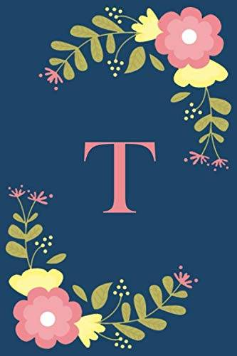 Joy Monogram Publishing T: Floral Personalized