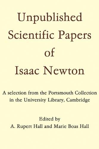 A Hall Unpublished Scientific Papers of Isaac