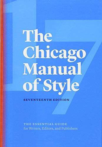 University of Chicago Press The Chicago Manual