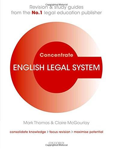 Mark Thomas English Legal System Concentrate:
