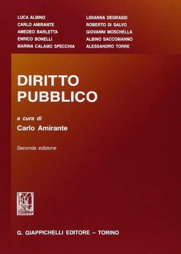 Diritto pubblico ISBN:9788834825556