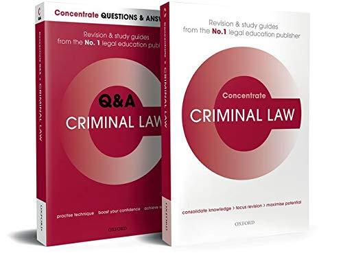 Mischa Allen Criminal Law Revision Concentrate