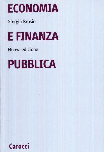 Giorgio Brosio Economia e finanza pubblica