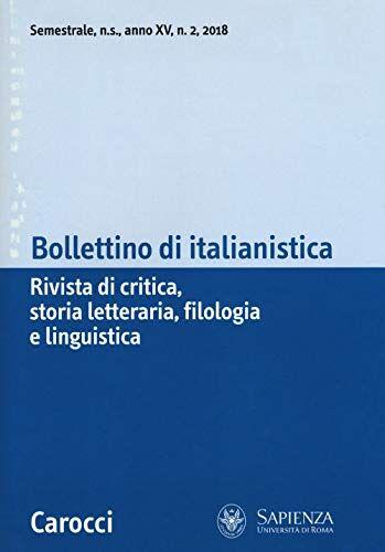 Bollettino di italianistica. Rivista di