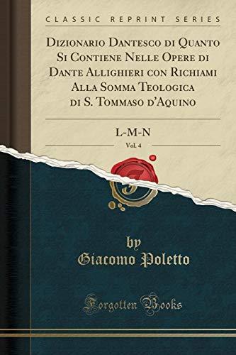 Giacomo Poletto Dizionario Dantesco di Quanto