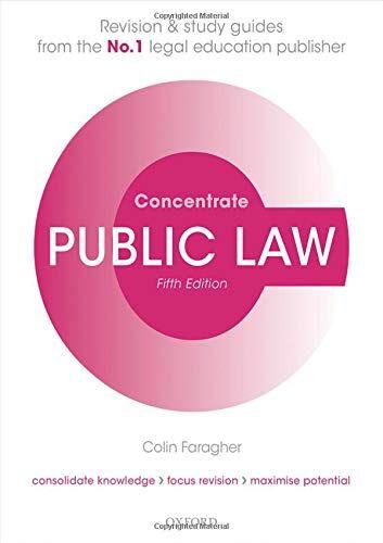 Colin Faragher Public Law Concentrate: Law