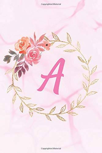 Joy Monogram Publishing A: Floral Personalized