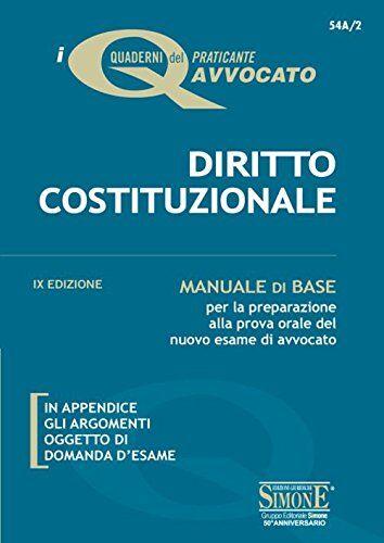 AA.VV. Diritto costituzionale. Manuale di base